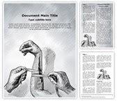 nursing arm bandage editable word template  design