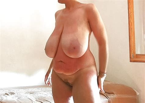 Giant Tits Bbw Mature Milf Wife Shows Saggy Udders 64
