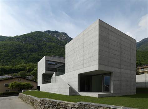 concrete suburban residential house alps switzerland  beautiful houses   world