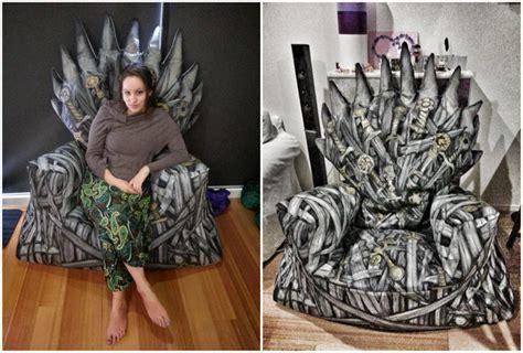 iron throne bean bag 25 brilliant game of thrones diy projects all men must craft homesthetics inspiring ideas