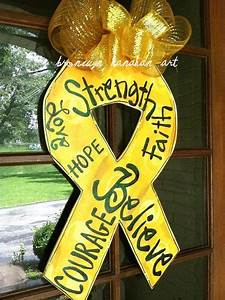 Awareness, Ribbon, Door, Hanger, By, Bronwynhanahanart, On, Etsy