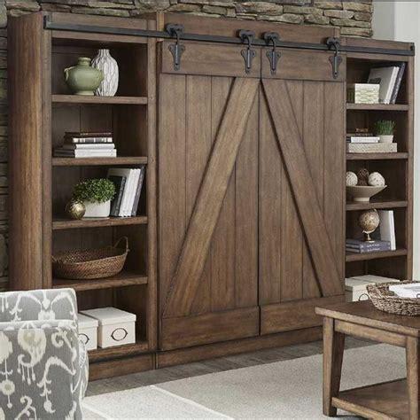 lancaster rustic sliding barn door wal furniture