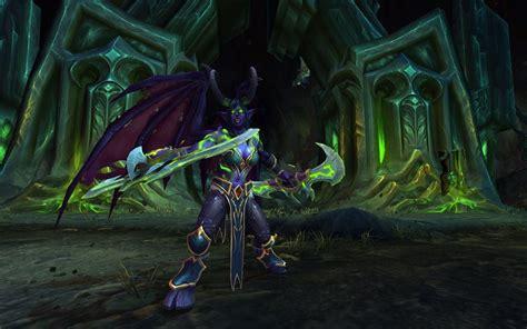 wallpaper demon hunter world  warcraft legion hd