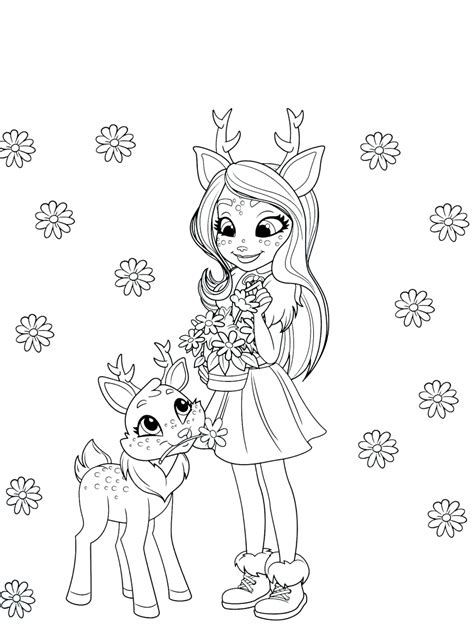 enchantimals  coloring pages youloveitcom