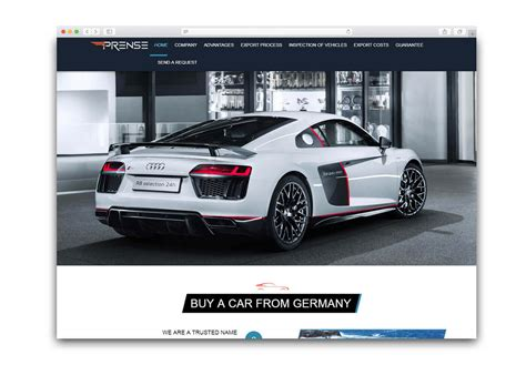 Automobile Website Design by Automobile Website Design Portfolio Arihant Webtech