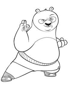 kung fu panda monkey coloring pages | Things to Wear
