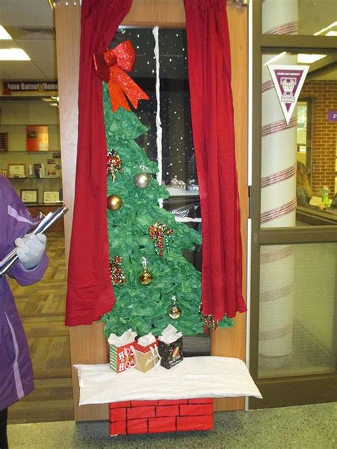 hiring christmas decorating door decorating contest winner vol 21 no 16