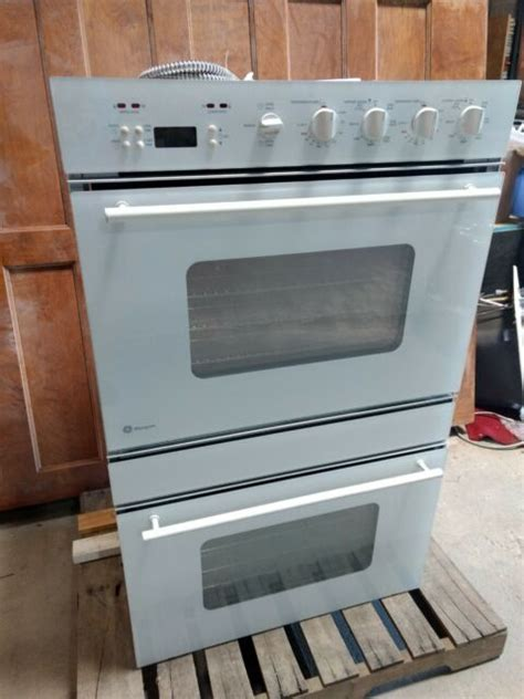 ge  monogram electric combo wall oven model zetwyww serial zs ebay