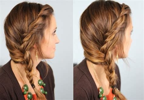 cute side braided hairstyle for girls easy loose braid