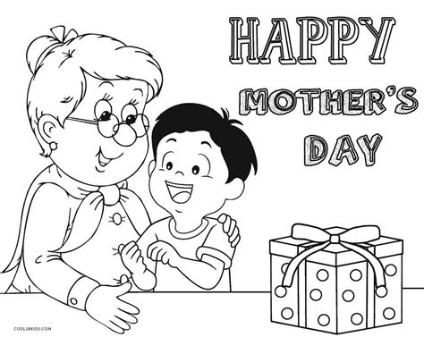 printable mothers day coloring pages  kids