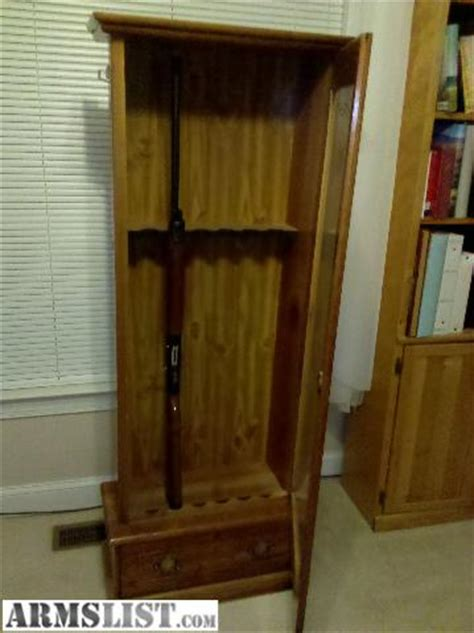 wood gun cabinet with etched glass armslist for sale wooden gun cabinet with glass door