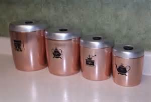 copper kitchen canister sets vintage aluminum copper canister set by west bend vintage kitchen vintage canister set