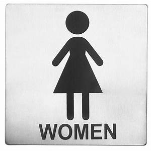 The gallery for gt women only restroom sign for Women only bathroom sign