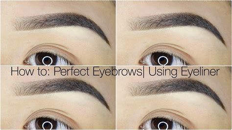 How To Perfect Eyebrows Using Eyeliner Youtube