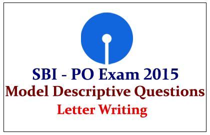 sbi po exam  model descriptive letter writing topic