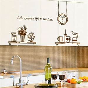 Aliexpresscom buy kitchen wall decals removable wall for Kitchen cabinets lowes with removable vinyl wall art decals stickers
