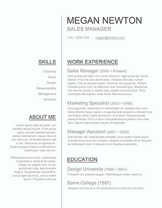 resume templates  word downloadable freesumes