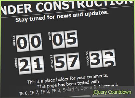 jquery countdown timer plugins code geekz