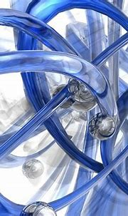 Swirling Blue Tubes And Sphere 3d Wallpaper 2560x1600 ...
