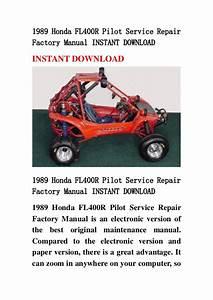1989 Honda Fl400 R Pilot Service Repair Factory Manual