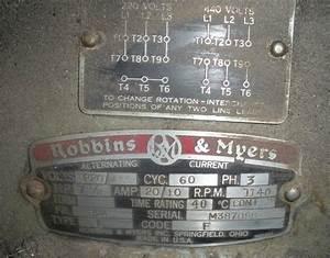 Robbins  U0026 Myers 7 5hp 3ph Motor