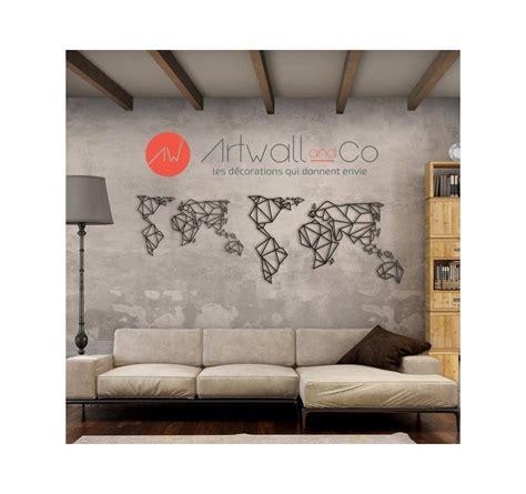 Carte Du Monde Deco Design by D 233 Co M 233 Tal Carte Monde Artwall And Co