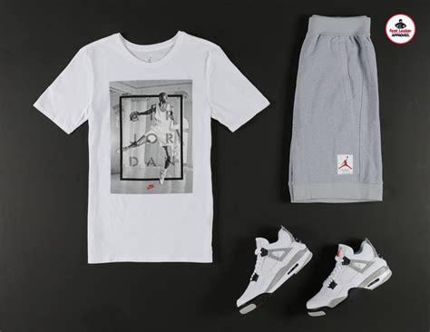 Air Jordan 4 White Cement Apparel Hook Ups | SneakerFits.com