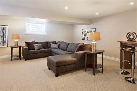 model homes transitional basement ottawa tartan