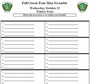 Golf Tournament Sign Up Sheet Template Miscellaneous Reports