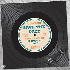 vinyl record wedding invites save the dates wedfest With diy record wedding invitations