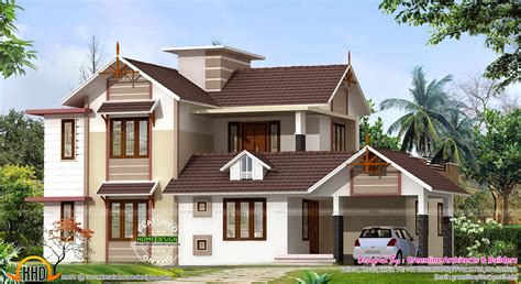 design new 2400 sq ft new house design kerala home design and floor plans