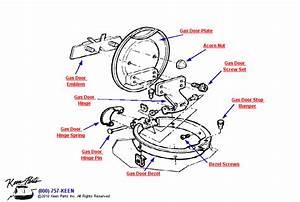 1973 Corvette Gas Door Parts