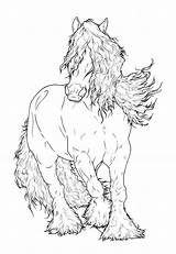 Gypsy Coloring Pages Lineart Horse Vanner Drawing Deviantart Requay Adult Horses Drawings Friesian Head Colouring Adults Animal Sketches Books Collections sketch template