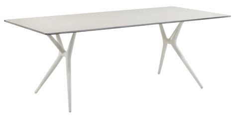 bureau kartell table pliante spoon bureau 140 x 70 cm plateau blanc