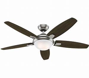 Hunter contempo inch brushed nickel ceiling fan