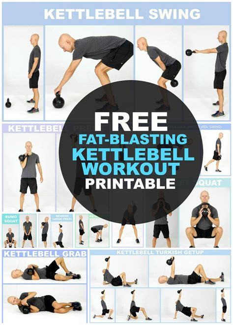 kettlebell workout exercises printable weight loss body beginners routine workouts routines chart fitness kettlebells fat arm exercise training yurielkaim plan