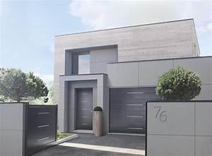 les portes de garage motorisees solabaie personnalisables With porte de garage enroulable avec porte contemporaine interieur