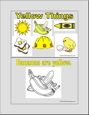 yellow  booklet coloring pages  abcteachcom