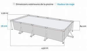 Piscine tubulaire Intex Metal Frame 4 50 x 2 20 x 0 84 m + Epurateur 2m3