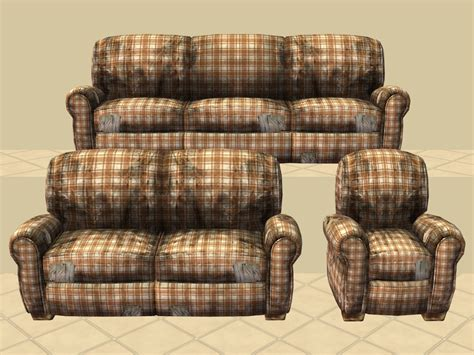 plaid loveseat plaid sofa and loveseat mod the sims really distressed
