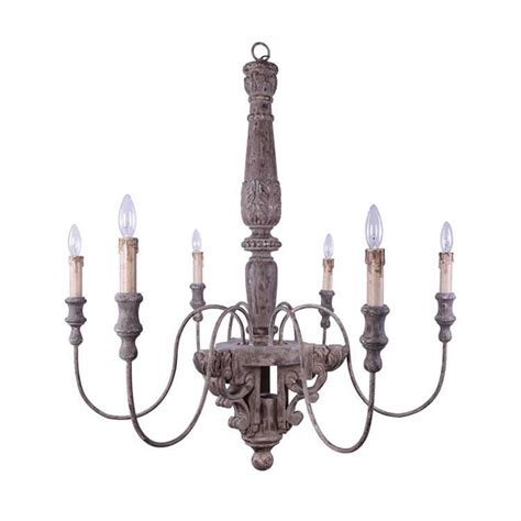 gatherings wood metal chandelier