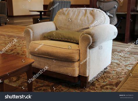 Large Overstuffed Armchair Stock Photo 324700619