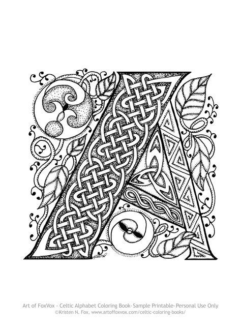 Celtic Letter Coloring Pages 2005273
