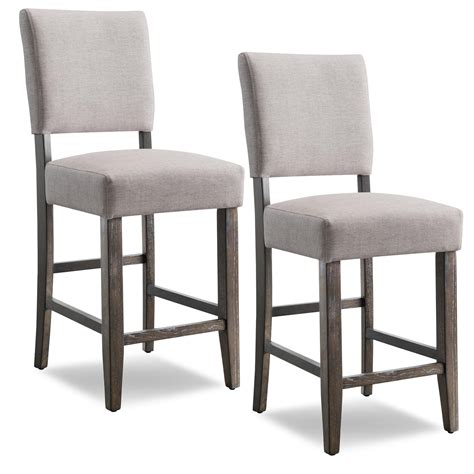 Stool Height by Leick Wood Upholstered Back Counter Height