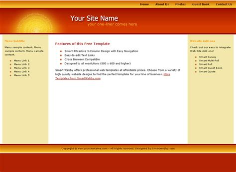 dreamweaver templates friendly personal template