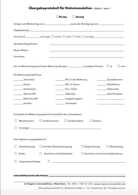 vermieterbescheinigung haus und grund kostenloses wohnungs 252 bergabeprotokoll pdf