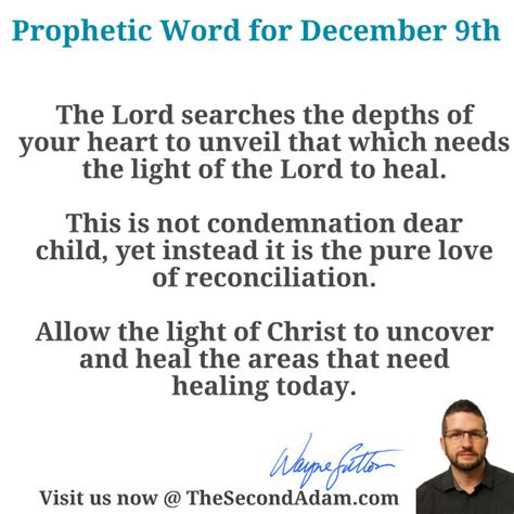» Daily Prophetic Word For December 9th