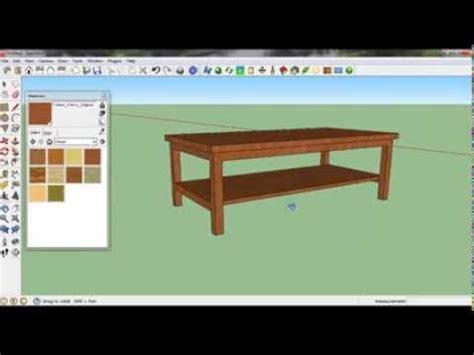 sketchup tutorial belajar membuat meja sederhana youtube