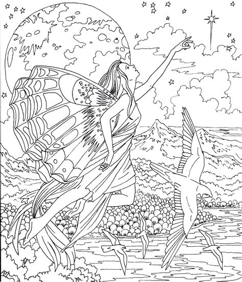 Magical Fairies (Adult Colouring Book) (Doodle Design) New