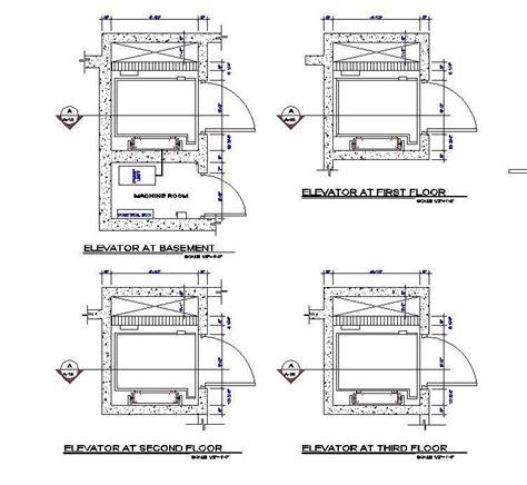 Lift design plan CAD dwg   CADblocksfree  CAD blocks free